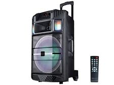 "IQ Sound IQ-5215DJBT 15"" Portable PA Speaker +Bluetooth +USB/SD/LED +Free Mic"