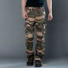 Mens Military Army Combat Trousers Tactical Pocket Cargo Camouflage Camo Pants