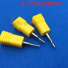 5pcs HQ Alu Cu endmill single flute spiral CNC router bits 1/8'' 3.175mm x2x8mm