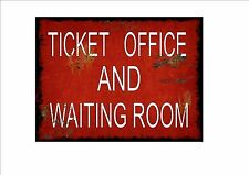 Railway Station Sign Reproduction British Rail Ticket Office Vintage Rail Sign