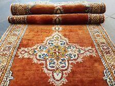 Königlicher Seiden Orientteppich Handgeknüpft- Beautiful Carpet 130 x 40 cm