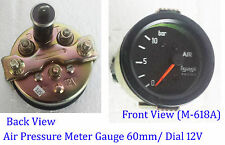 VINTAGE CAR 60mm Universal Car 12V Dial Air Pressure Vacuum Gauge Meter-M618A