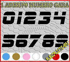 ADESIVO 12 cm NUMERO gara CORSA MOTO GP CROSS Stickers VINILE RACING TUNING F5