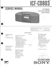Sony Original Service Manual per ICF-CD 803