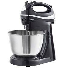 VonShef Black Hand & Stand Mixer Machine - Baking Mixing Processor Kitchen Tool