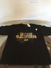 NWT Chicago Blackhawks Black Old Time Hockey T-Shirt Youth XL New With Tags!!!