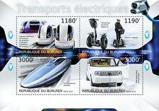 Electric drive Transport car train  m/s Burundi 2012 Sc.1265 #BUR12707a
