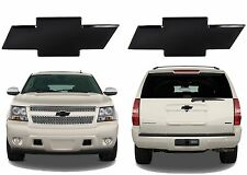Front & Rear Black Billet Bowtie Emblems For 2007-2012 Chevrolet Tahoe/Suburban