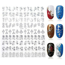 Hot 108PCS 3D Flower Decal Stickers Gel Nail Art Stamping Manicure Decoration