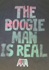 "MEN M VINTAGE UNDRCRWN T-SHIRT ""THE BOOGIE MAN IS REAL"" WORLD CHAMPION HALLOWEEN"