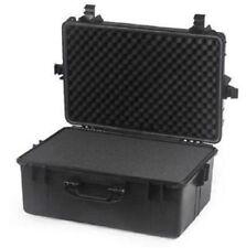 """22"""" Black Tactical Weatherproof Equipment Case Pelican Equivalent - Deep"""
