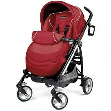 Peg Perego 2012 Pliko Switch  Four Stroller in Geranium Brand New!!