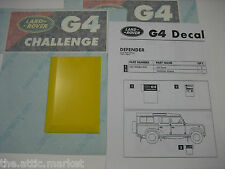 Land Rover G4 Challenge Decal Sticker Kit for Defender 90 110 Sport Genuine New