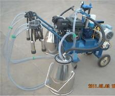 Gasoline+Electric Milking Machine Cows- Double Tank + EXTRAS  - Factory Direct -