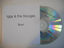 IGGY & THE STOOGES : BURN [ CD ACETATE PORT GRATUIT ]