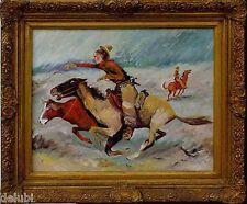 Expressiver Realismus Fermen Ernst *1947 - Moderne Kunst -Cowboys xxxx