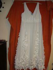 HEINE  Brautkleid-Hochzeitskleid-Schmuck -creme-Hochzeit-Standesamt Gr.44 neu