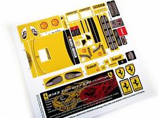 REPLACEMENT STICKERS for Lego 8143 Ferrari F430 Challenge Yellow version +BONUS