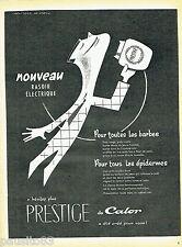 PUBLICITE ADVERTISING 016  1955  CALOR  le nouveau rasoir éléctrique par Cristen