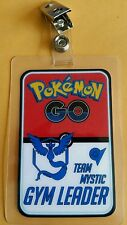 Pokemon Go ID Badge-Team Mystic Gym Leader cosplay costume