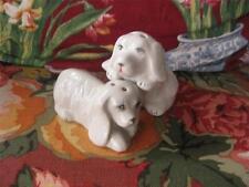 Whimsical DOG White Long Hair Floppy Ears boy girl Salt & Pepper Shakers
