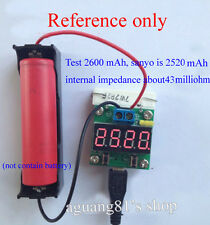 Digital Lithium Li-ion NIMH Battery Capacity Tester Voltage Detector Discharger