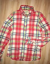 Men's Muscel Abercrombie & Fitch Plaid Button-Up Shirt Small