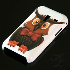 Samsung Galaxy Ace Plus S7500 Hard Handy Case Hülle Cover Etui Eule Schleife Owl