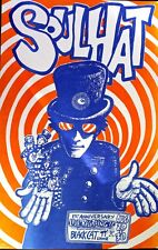 SOUL HAT 1 YEAR BLACK CAT POSTER BY JASON AUSTIN ORIGINAL PUNK PSYCHEDELIC RARE