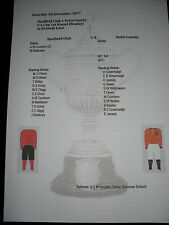 1877-78 fa cup 1st round replay sheffield club v notts county matchsheet