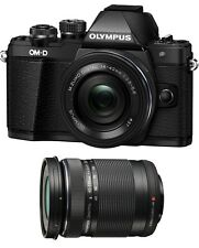 Olympus OM-D E-M10 Mark II Digital Camera w/ 14-42mm EZ & 40-150mm Lenses- Black