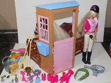 Barbie Horse Stable with Fence Barn Horse, Mattel made is the 2000  fun mix