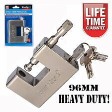 New 94mm Heavy Duty Padlock High Security Shutter Chain Gate Barrier Lock 3 Keys