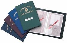 CUSTODIA PORTA CARTA D' IDENTITA' CUSTODIA PER DOCUMENTI FODERO PATENTE CARTE