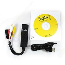 EasyCAP DC-60 USB 2.0 AV VHS TV TO DVD S-VIDEO DV CAPTURE CARD CONVERTER
