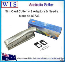 SIM Card Cutter with 2 Adaptors and Needle for iPhone5 iPad,NDS,PSP,S/S-83733