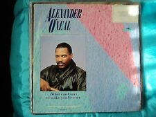 """alexander o neal what can i say to make you love me 12"""" single EX / VG"""