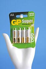 GP Super Battterie Alkaline Battery AA Mignon LR6 Power Batterien 4er Pack