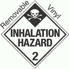 Standard Worded Inhalation Hazard Class 2.3 Removable Vinyl Placard (PACK OF 50)
