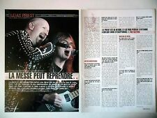 COUPURE DE PRESSE-CLIPPING :  JUDAS PRIEST [2pages] 07/2004 Rob Halford,Metalogy