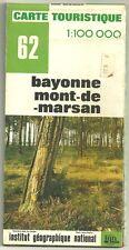 Carte Touristique IGN 62 1:100 000 Bayonne - Mont-de-Marsan