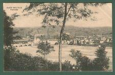 PONTE DELL'OLIO, Piacenza. Panorama. Cartolina d'epoca viaggiata nel 1917.