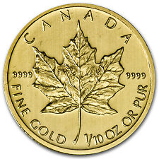 2013 1/10 oz Gold Canadian Maple Leaf Coin - Brilliant Uncirculated - SKU #71264