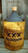 "Rustic Vintage Antique Style 12"" Wood/Metal Moonshine Whiskey Jug- Country Decor"