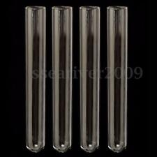 4Pcs Test Tube Pyrex Glass Blowing Tubes Borosilicate Lab Experiment Test Tube
