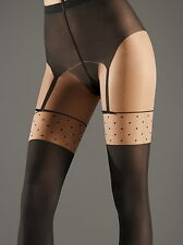 WOLFORD DAPHNE Tights Pantyhose in Sahara/Black Sz:M Ret:$72 New/Packaged