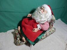 Telco animated Sleeping Snoring Santa Claus Whistles Jingle Bells song