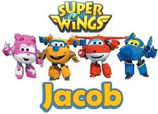 Super Wings Custom Youth tshirt Personalize Birthday Sprout tv show Jett dizzy