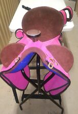 MULTI COLOR SYNTHETIC AUSTRALIAN STOCK AUSSIE TRAIL ENDURANCE HORSE SADDLE