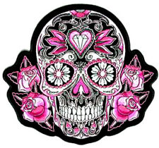 20  WATER SLIDE NAIL  DECALS TRANSFERS PINK BLACK WHITE SUGAR SKULL   5/8 INCH